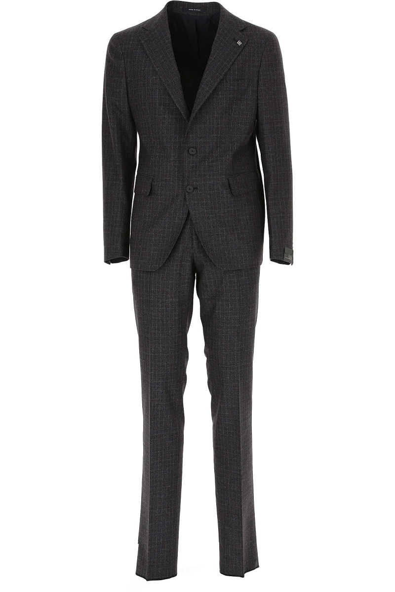 Tagliatore Men's Suit Blue DK - GOOFASH - Mens SUITS