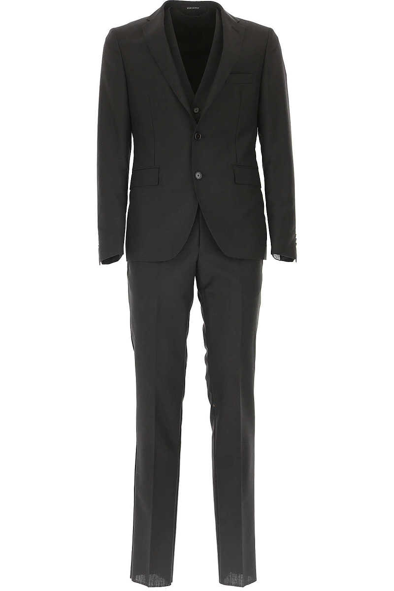 Tagliatore Men's Suit On Sale in Outlet Black DK - GOOFASH - Mens SUITS