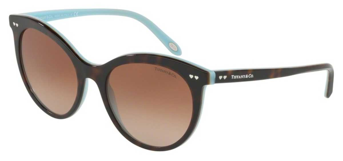 Tiffany TF 4141F Sunglasses Havana/Blue USA - GOOFASH - Womens SUNGLASSES