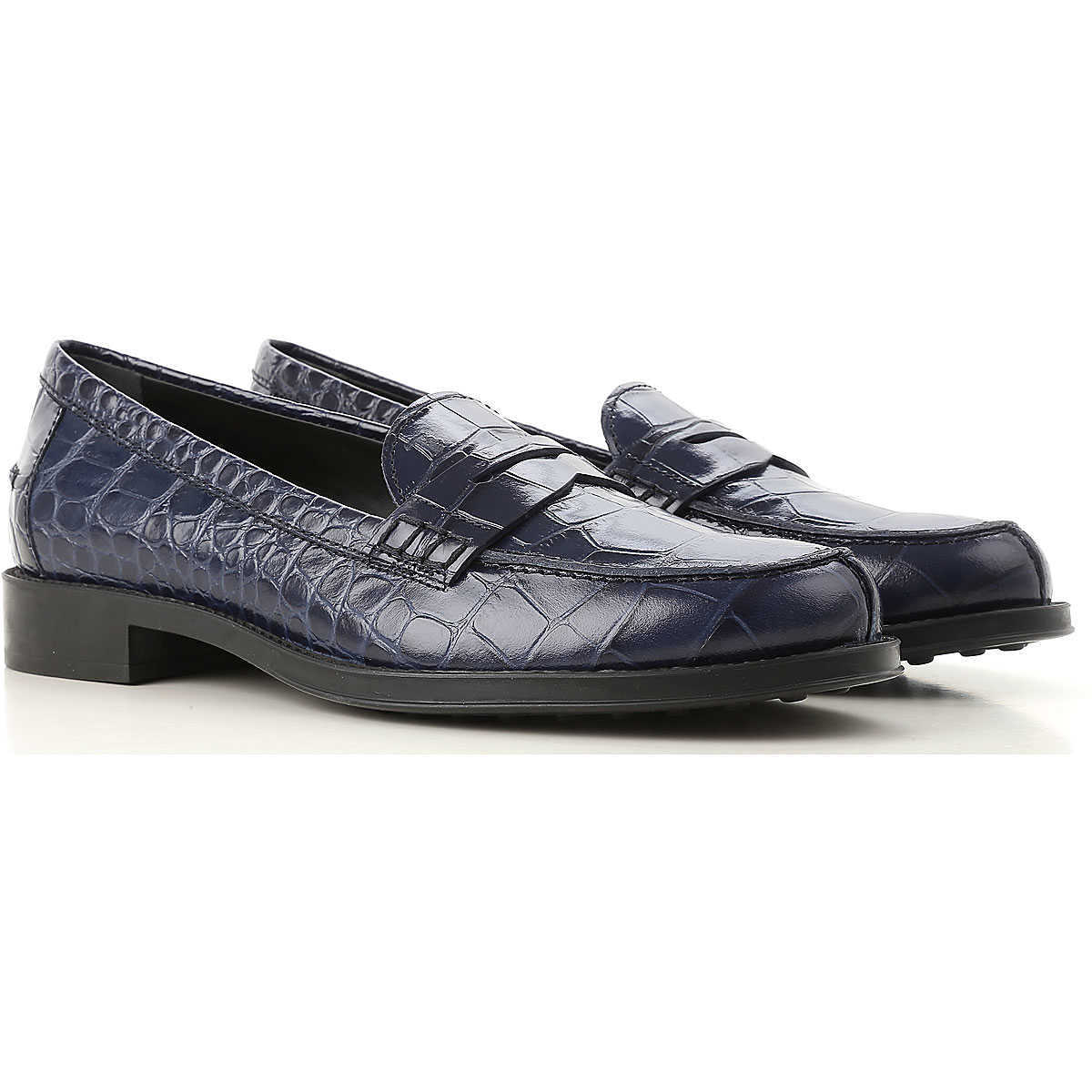 Tods Loafers for Women On Sale Blue DK - GOOFASH - Womens FLAT SHOES