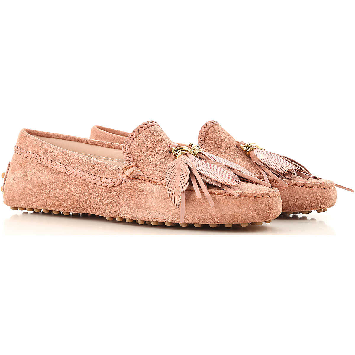 Tods Loafers for Women On Sale Dusty Pink DK - GOOFASH - Womens FLAT SHOES