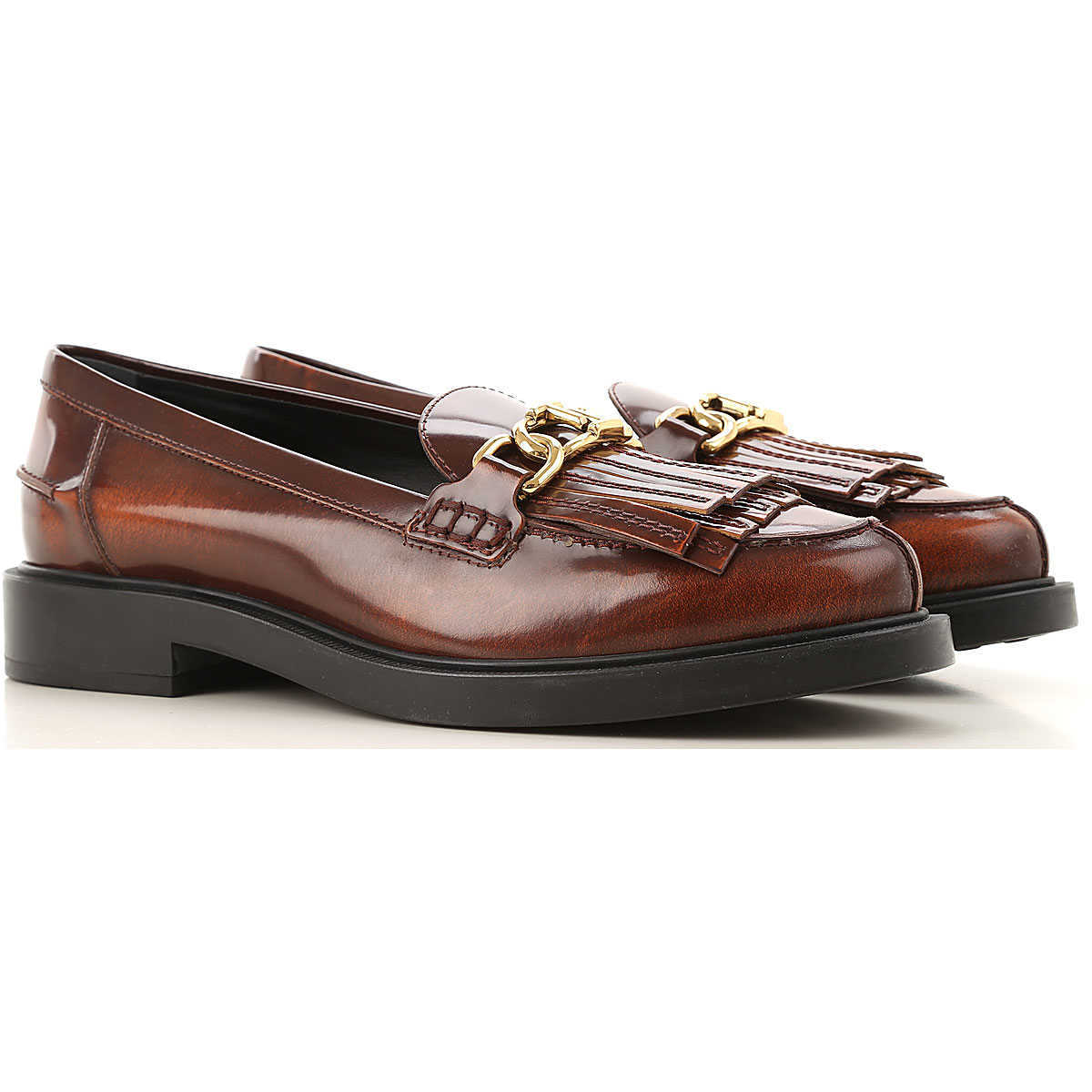 Tods Loafers for Women On Sale Red DK - GOOFASH - Womens FLAT SHOES