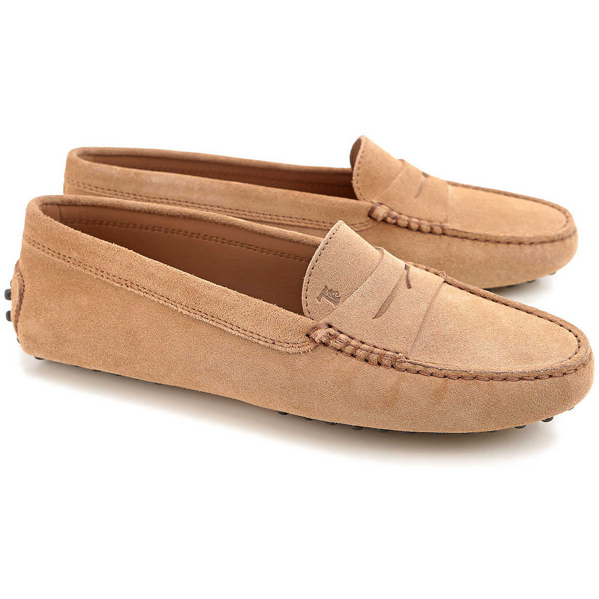 Tods Loafers for Women Sand DK - GOOFASH - Womens FLAT SHOES