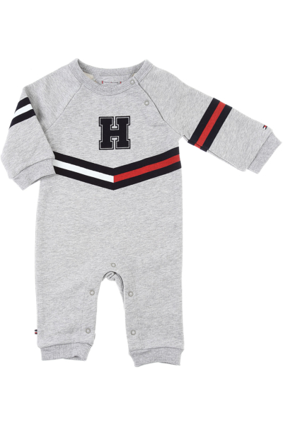 Tommy Hilfiger Baby Bodysuits & Onesies for Boys Grey DK - GOOFASH - Mens SUITS
