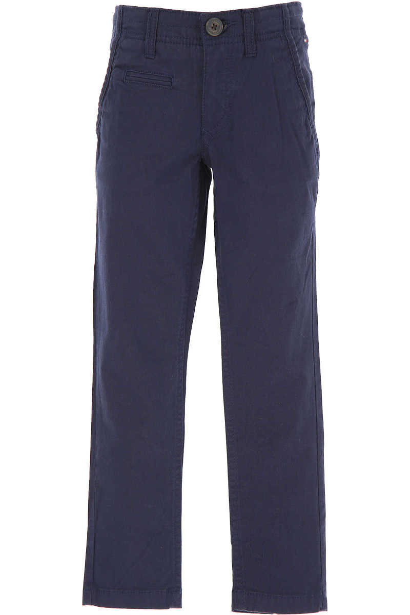 Tommy Hilfiger Kids Pants for Boys On Sale in Outlet Blue DK - GOOFASH - Mens TROUSERS