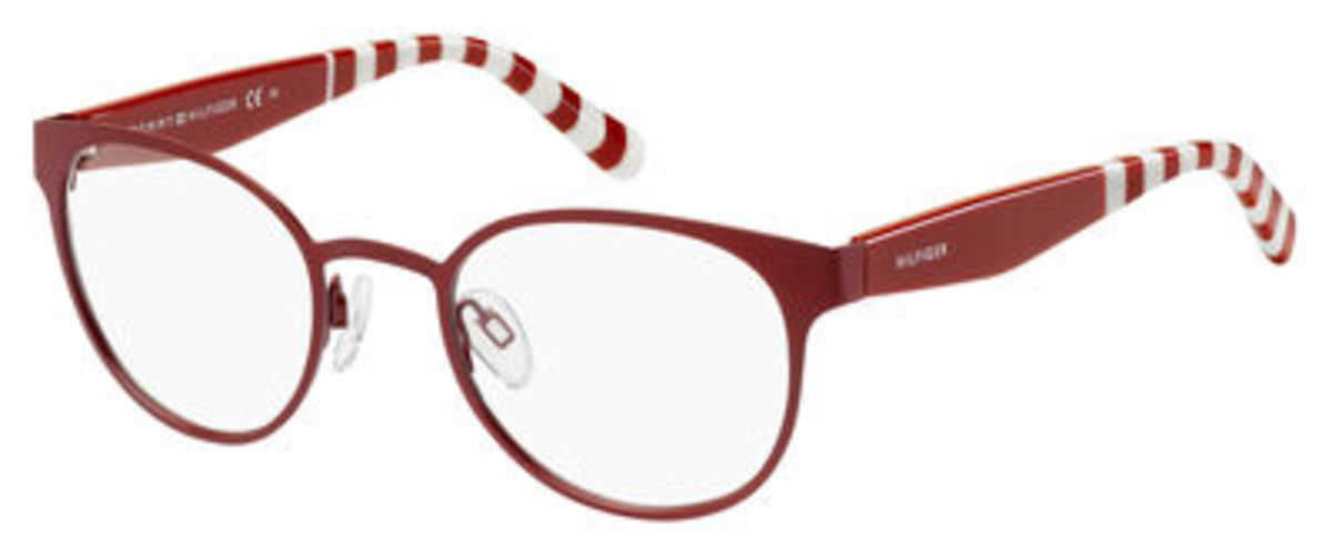 Tommy Hilfiger Th 1484 Eyeglasses Opal E Burgundy USA - GOOFASH - Womens SUNGLASSES