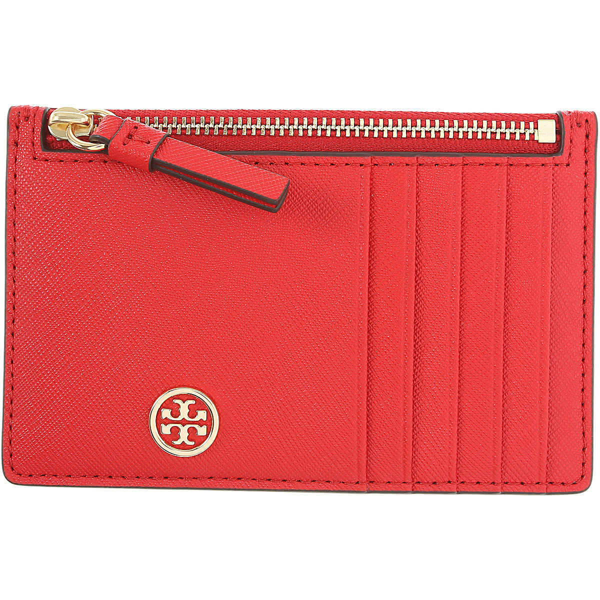 Tory Burch Card Holder for Women On Sale Brilliant Red DK - GOOFASH -