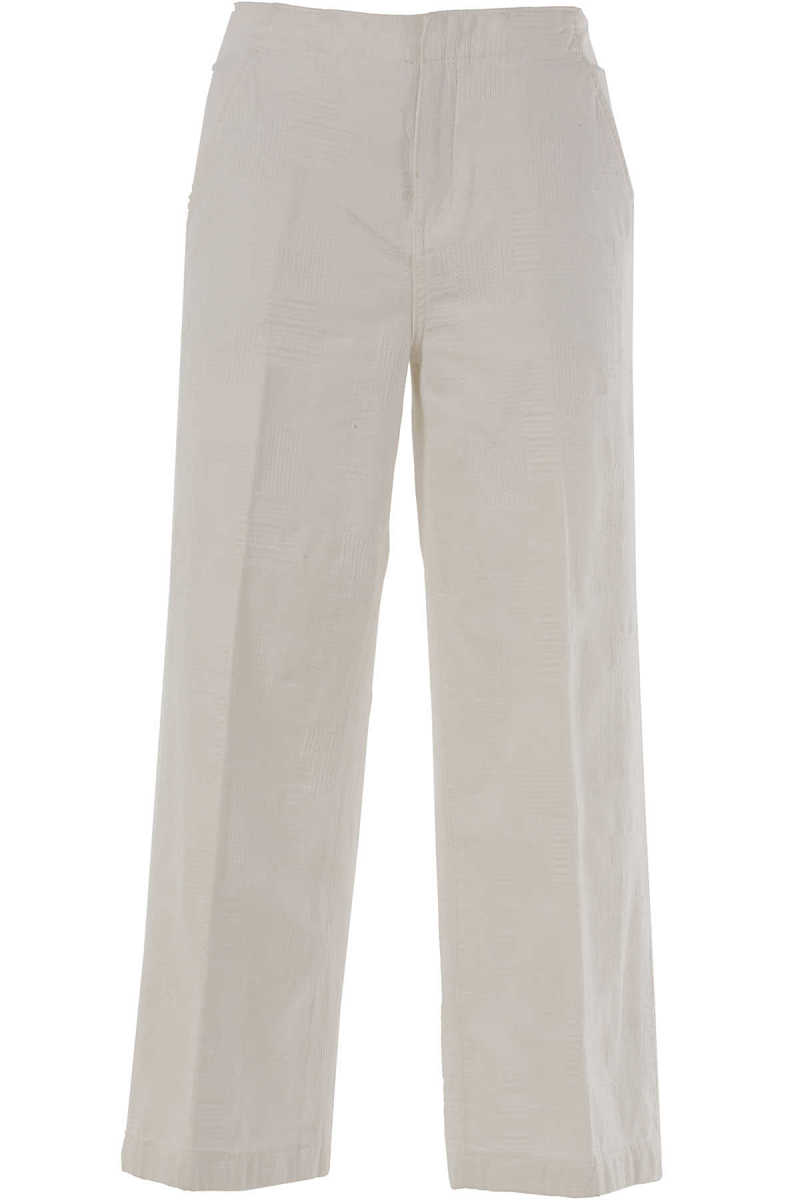 Tory Burch Pants for Women On Sale in Outlet White DK - GOOFASH - Womens TROUSERS