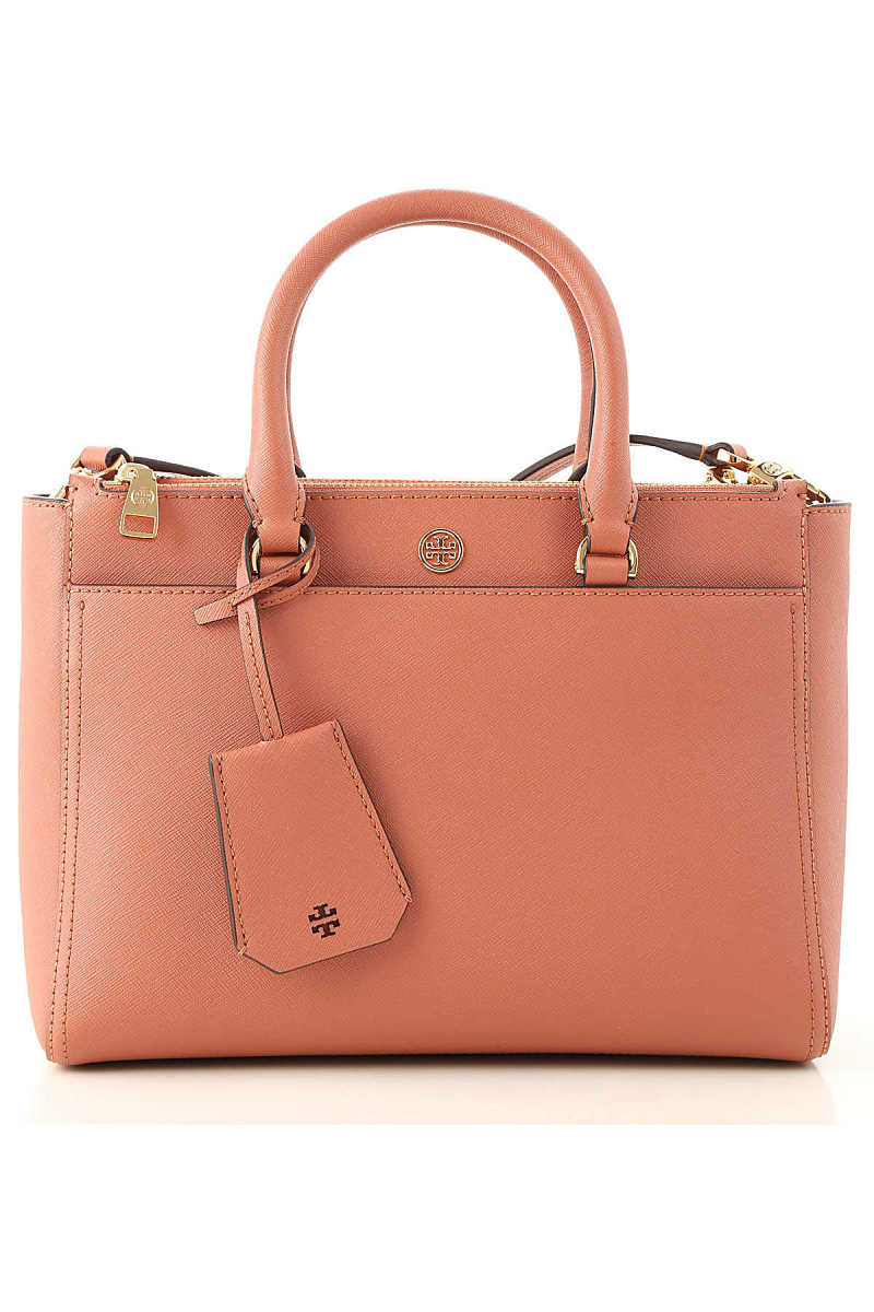 Tory Burch Tote Bag On Sale Sunset Pink DK - GOOFASH - Womens BAGS