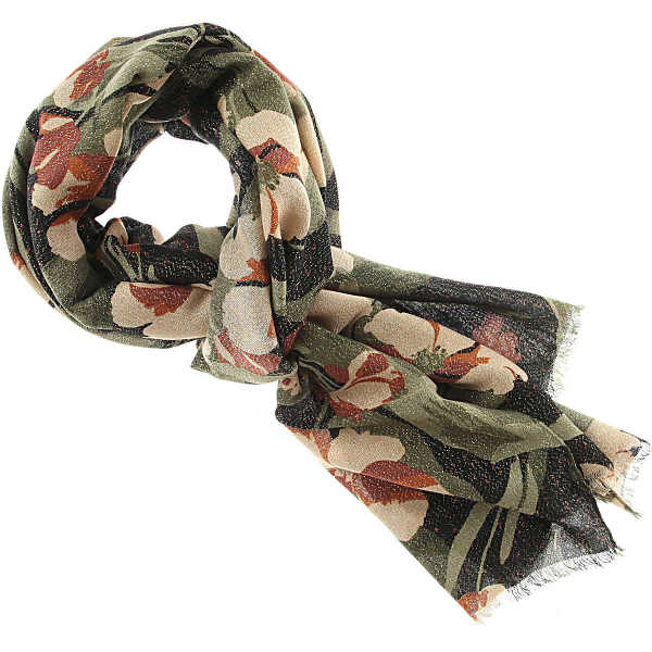 Twin Set by Simona Barbieri Scarf for Women On Sale Gold DK - GOOFASH - Womens SCARFS