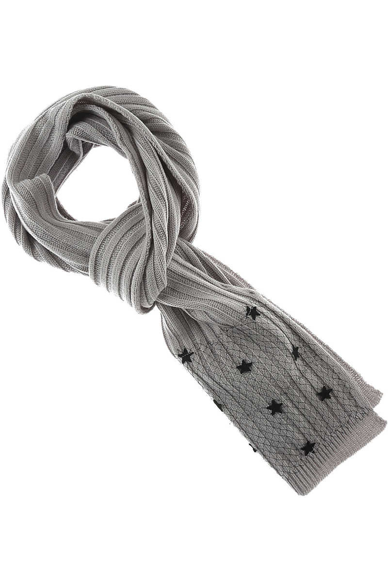 Twin Set by Simona Barbieri Scarf for Women On Sale ice Gray DK - GOOFASH - Womens SCARFS