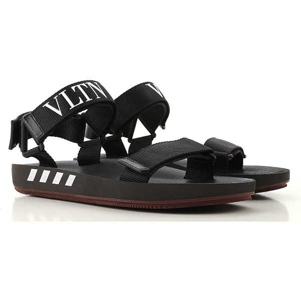 Valentino Garavani Sandals for Men On Sale Black DK - GOOFASH - Mens SANDALS