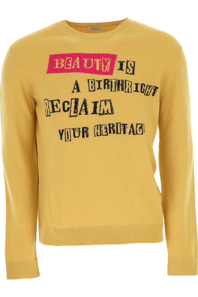 Valentino Sweater for Men Jumper On Sale in Outlet Mustard DK - GOOFASH - Mens SWEATERS