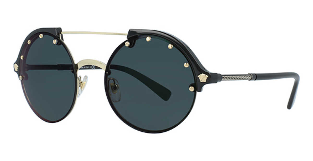 Versace VE 4337 Sunglasses Pale Gold/Black USA - GOOFASH - Womens SUNGLASSES
