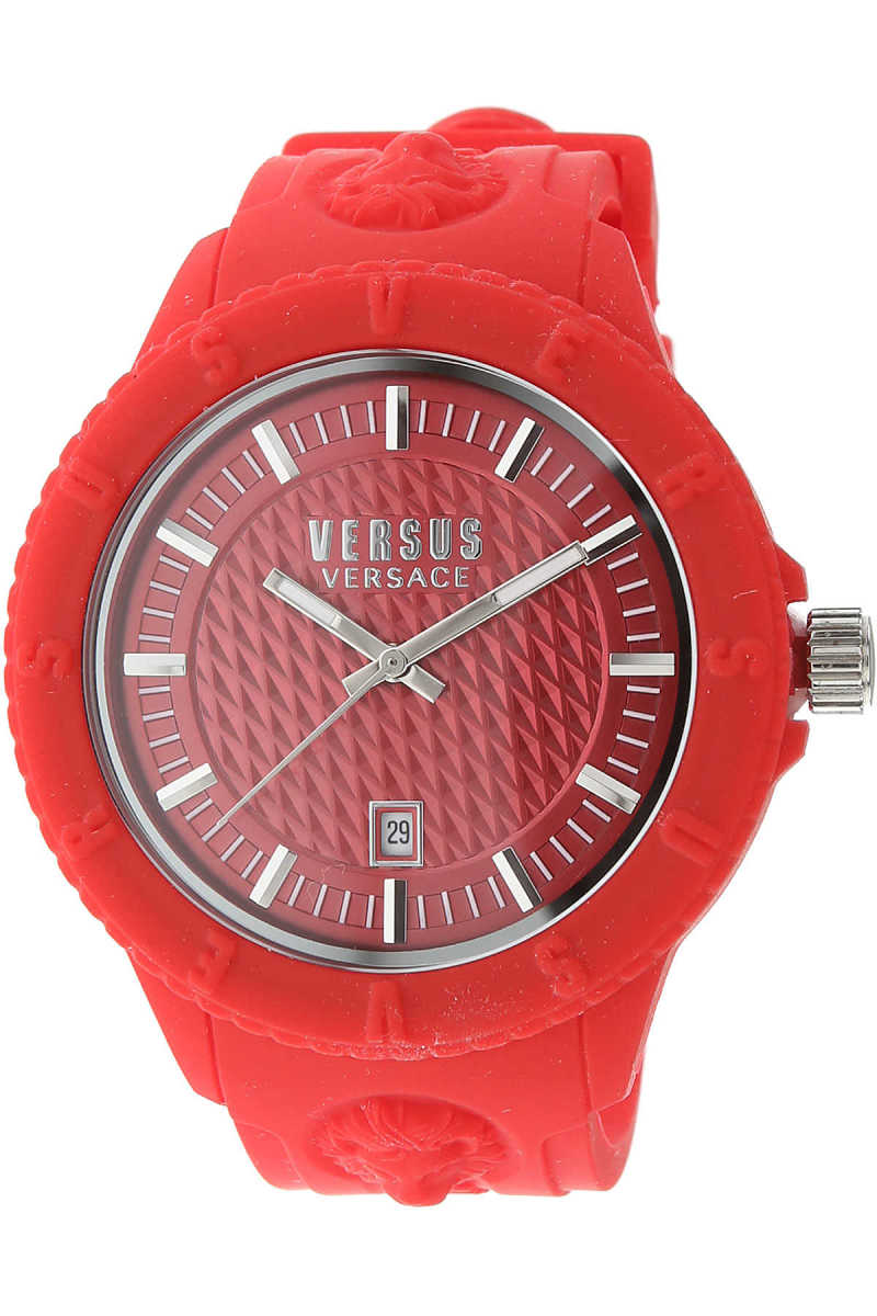 Versace Watch for Women On Sale Red DK - GOOFASH - Womens WATCHES