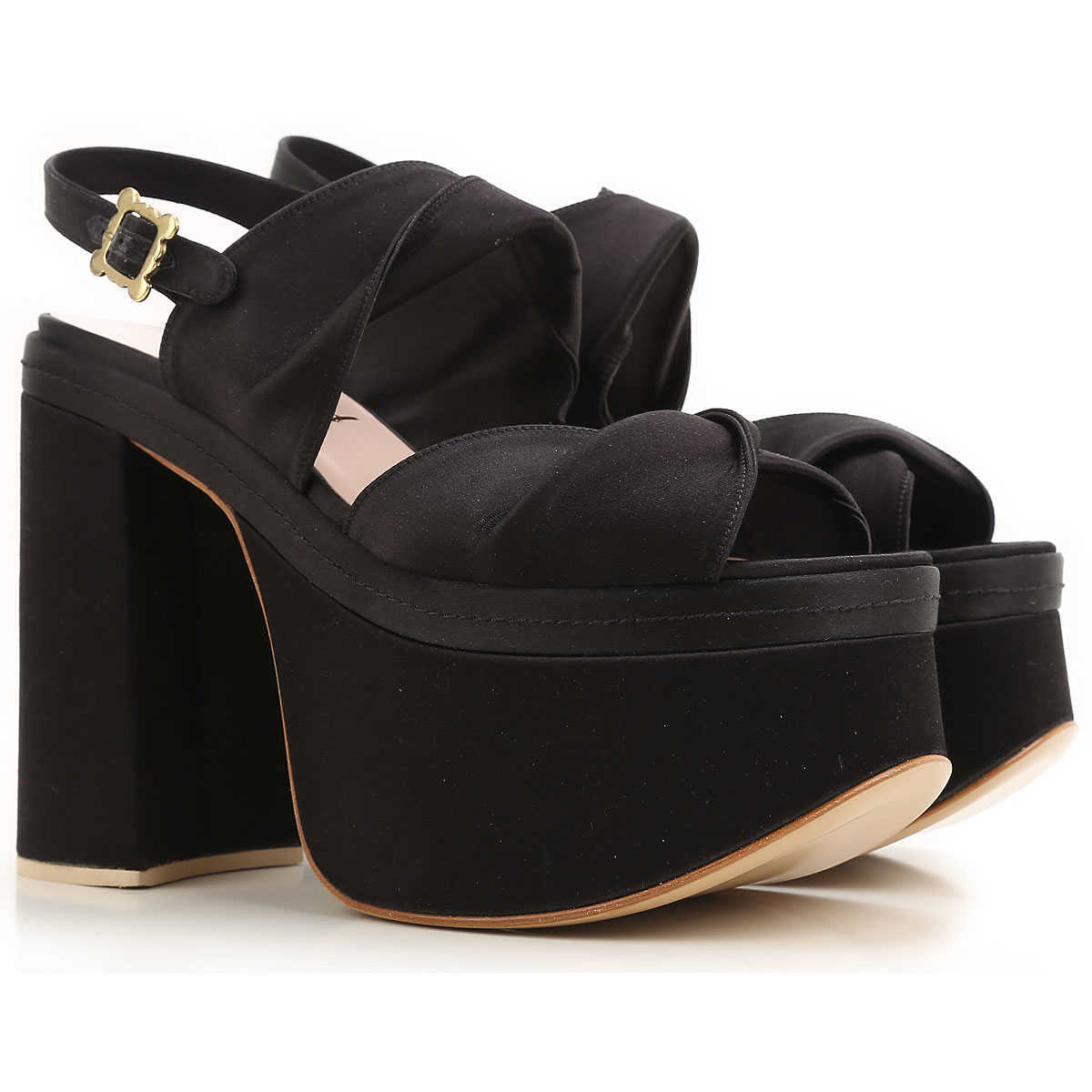 Vivienne Westwood Wedges for Women On Sale Black DK - GOOFASH - Womens HOUSE SHOES
