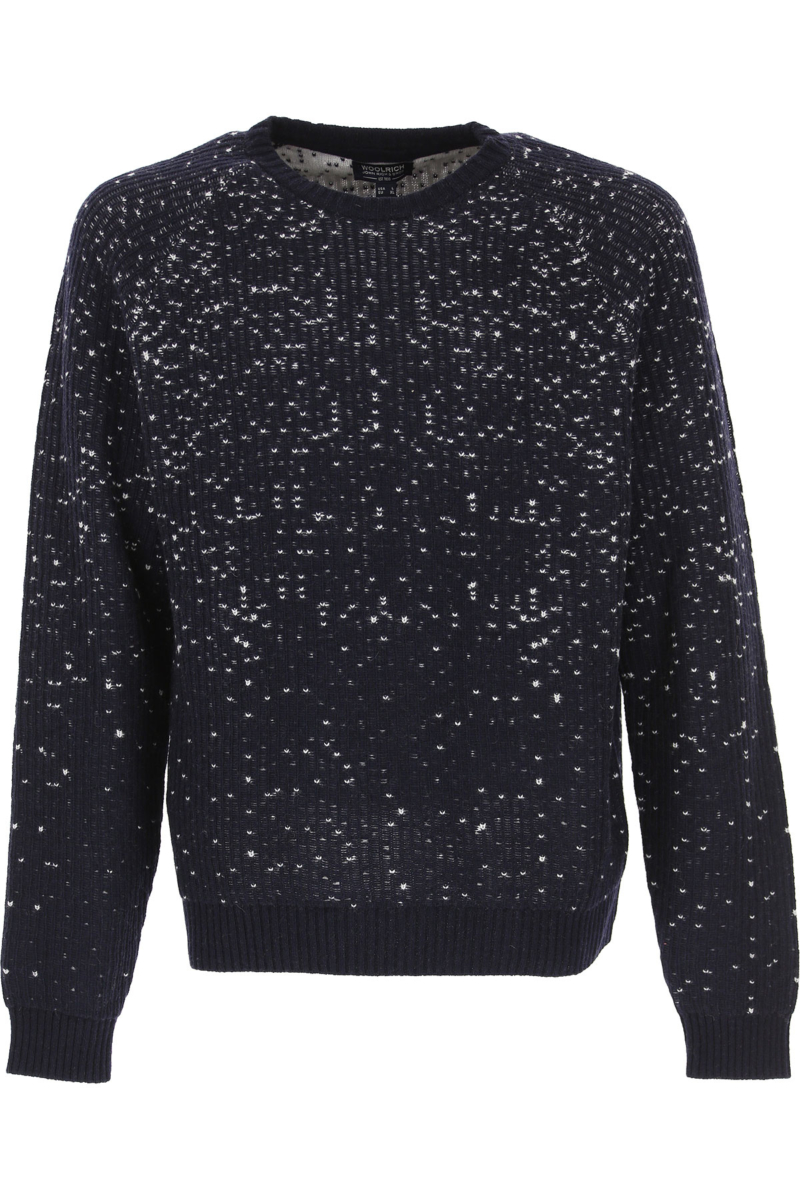 Woolrich Sweater for Men Jumper On Sale in Outlet Blue DK - GOOFASH - Mens SWEATERS