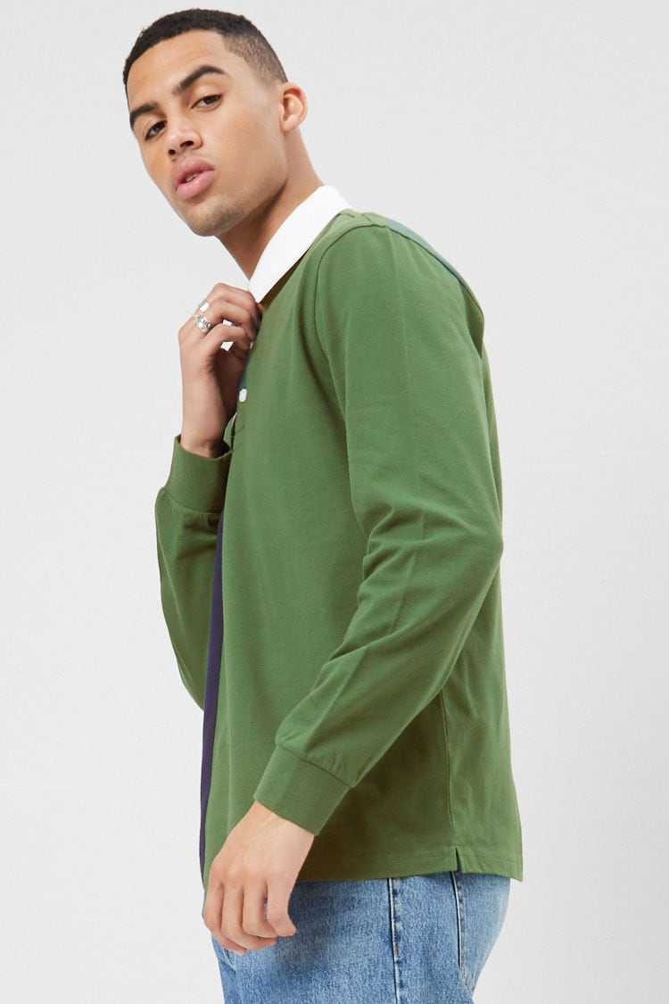 Worldwide Graphic Colorblock Polo at Forever 21