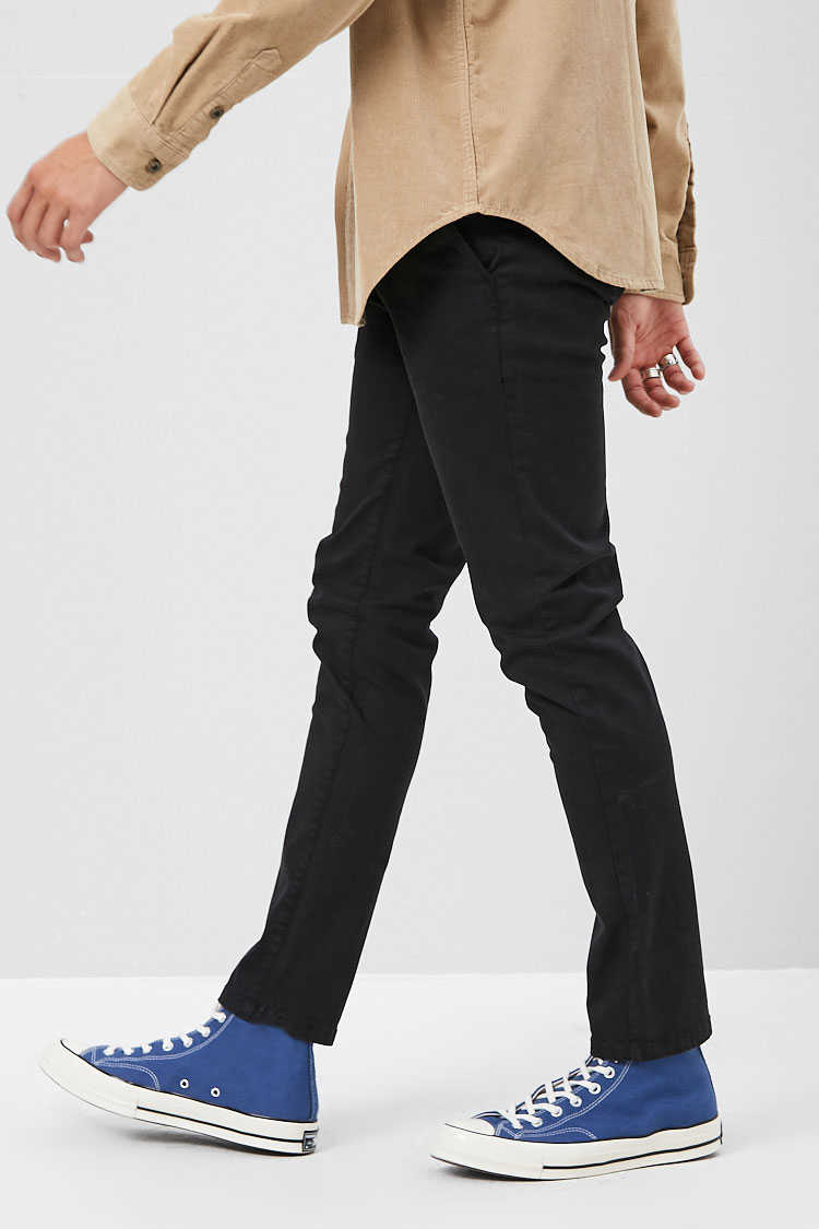 Woven Cotton-Blend Pants at Forever 21