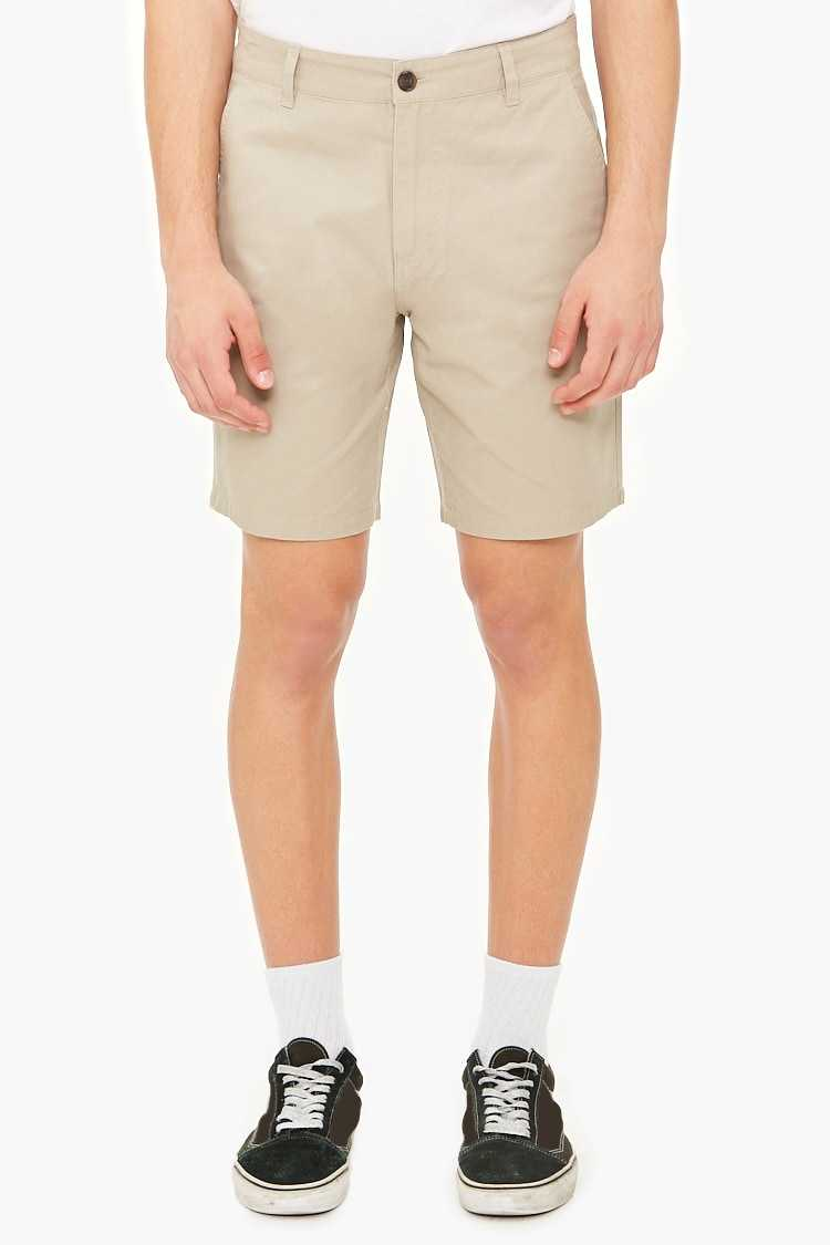 Woven Twill Shorts at Forever 21