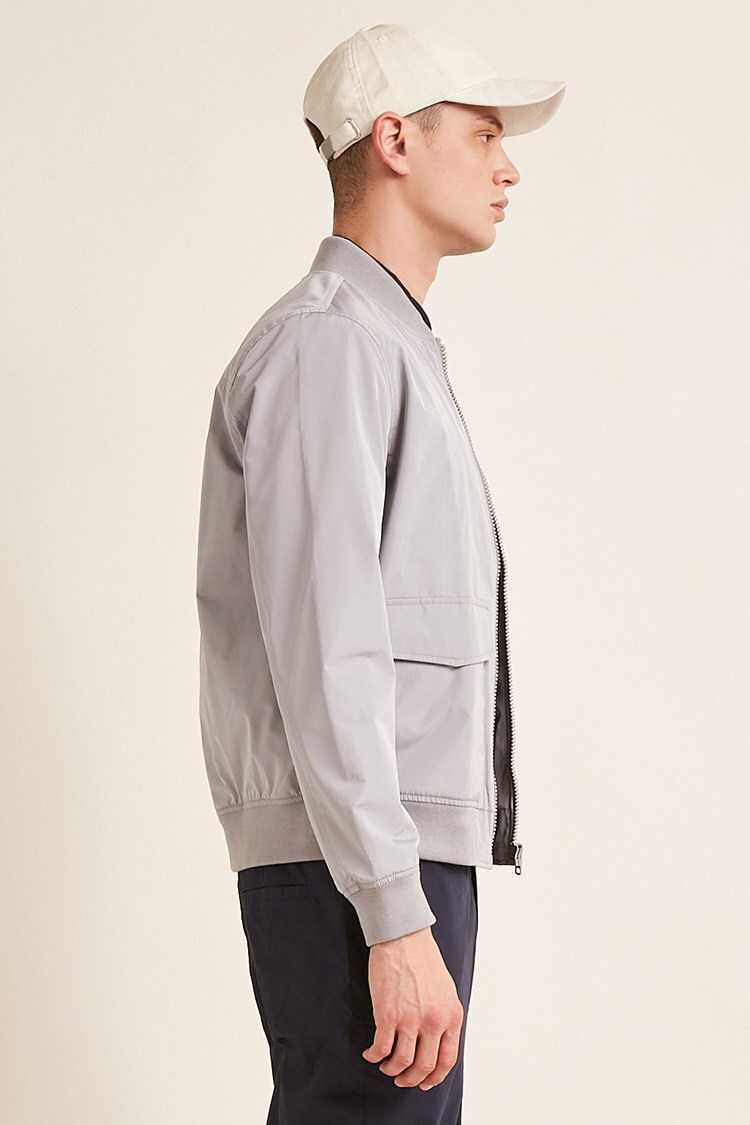 Woven Zip-Front Jacket at Forever 21