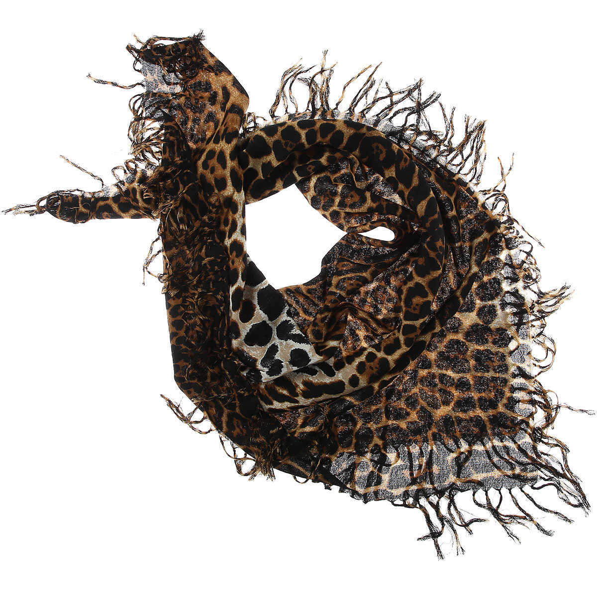 Yves Saint Laurent Scarf for Women On Sale Leopard DK - GOOFASH - Womens SCARFS