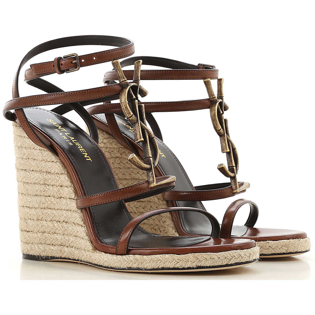 Yves Saint Laurent Wedges for Women Brown DK - GOOFASH - Womens HOUSE SHOES