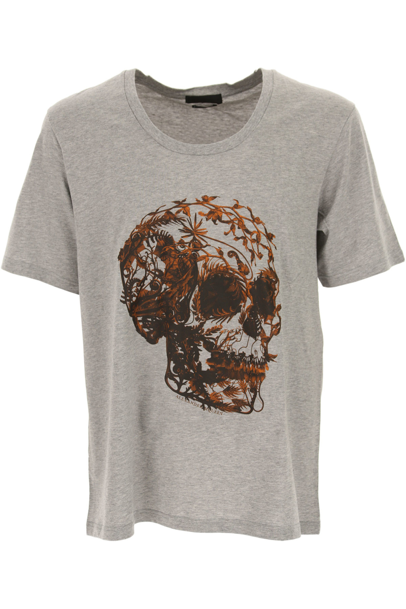 Alexander McQueen T-Shirt for Men in Outlet Grey Canada - GOOFASH - Mens T-SHIRTS