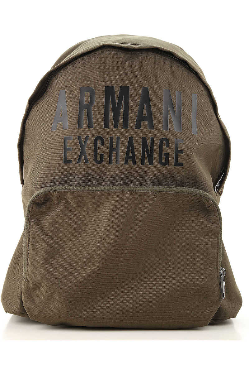 Armani Exchange Backpack for Men Military Green Canada - GOOFASH - Mens BAGS