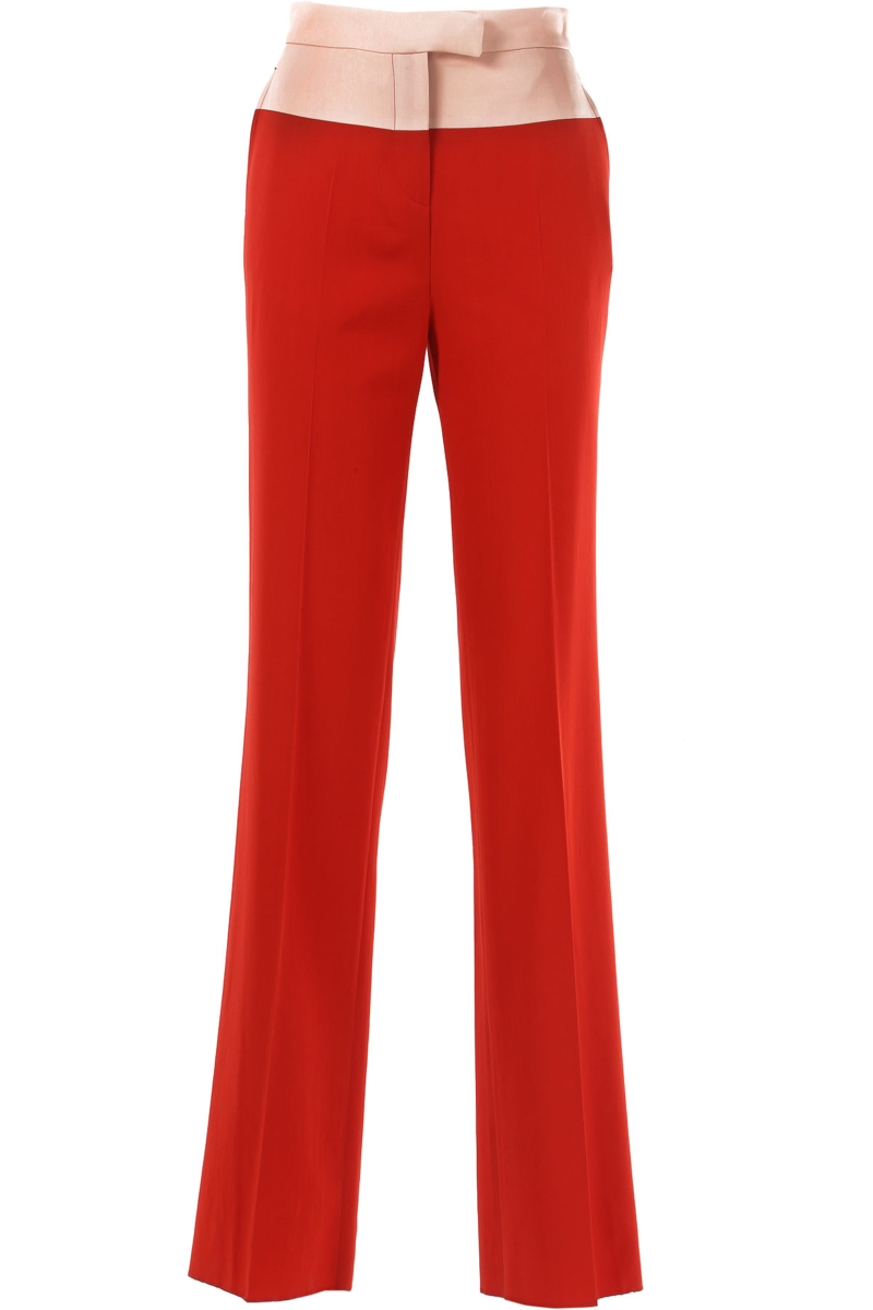 Bottega Veneta Pants for Women in Outlet Red Canada - GOOFASH - Womens TROUSERS