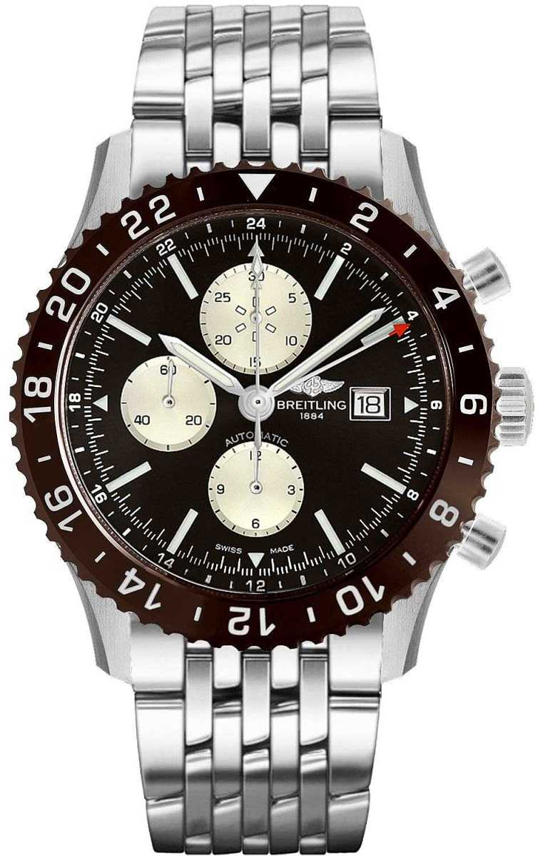 Breitling Chronoliner Y2431033/Q621-443A Brown USA - GOOFASH - Mens JEWELRY