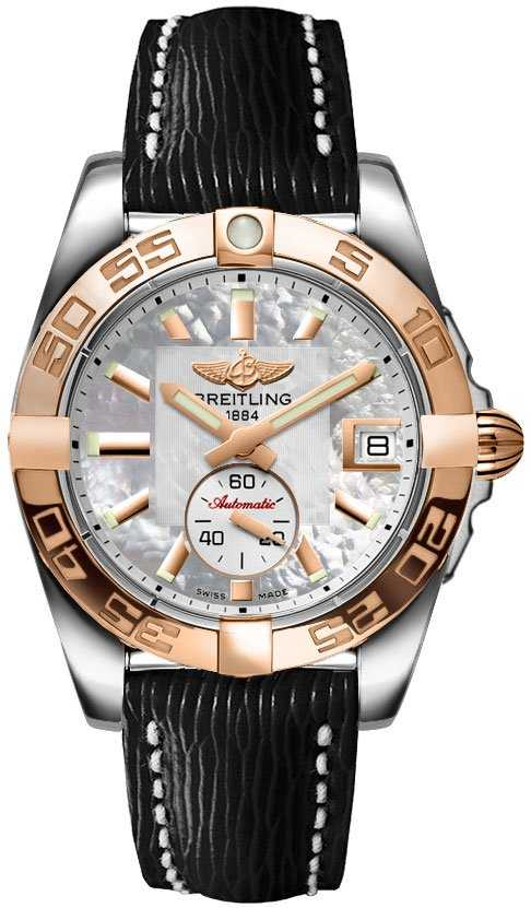 Breitling Galactic 36 Automatic C3733012/A724-249X White Mother Of Pearl USA - GOOFASH -