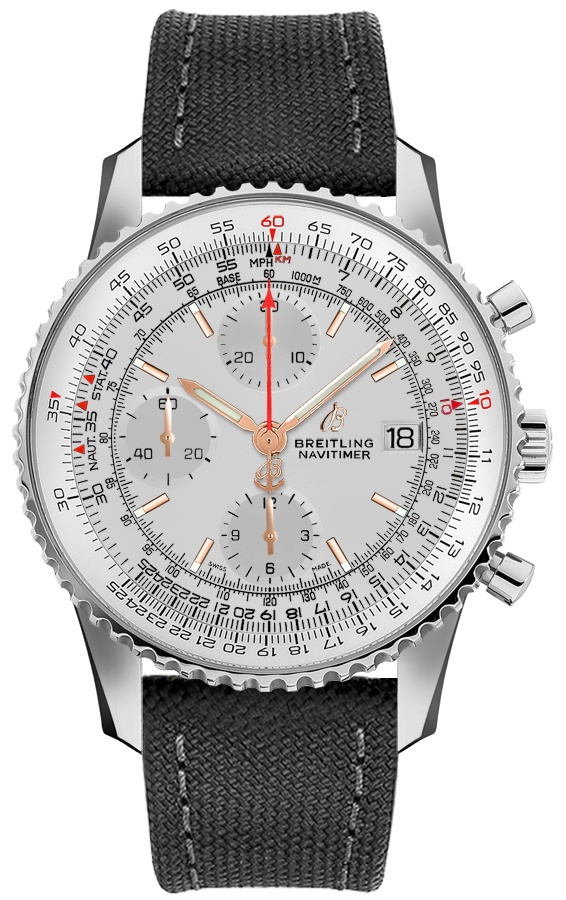 Breitling Navitimer Chronograph 41 Men's Watch A1332412/G834-109W Silver USA - GOOFASH - Mens WATCHES
