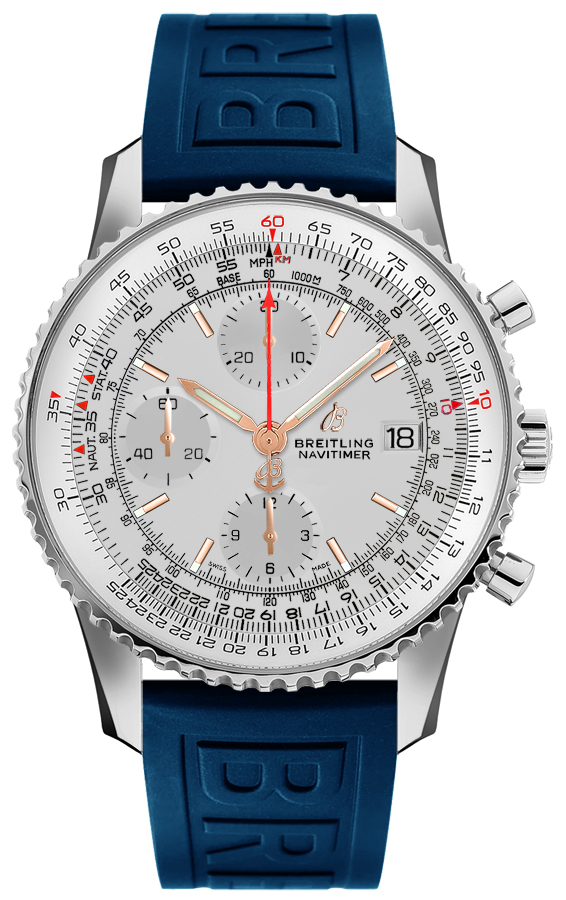 Breitling Navitimer Chronograph 41 Men's Watch A1332412/G834-158S Silver USA - GOOFASH - Mens WATCHES
