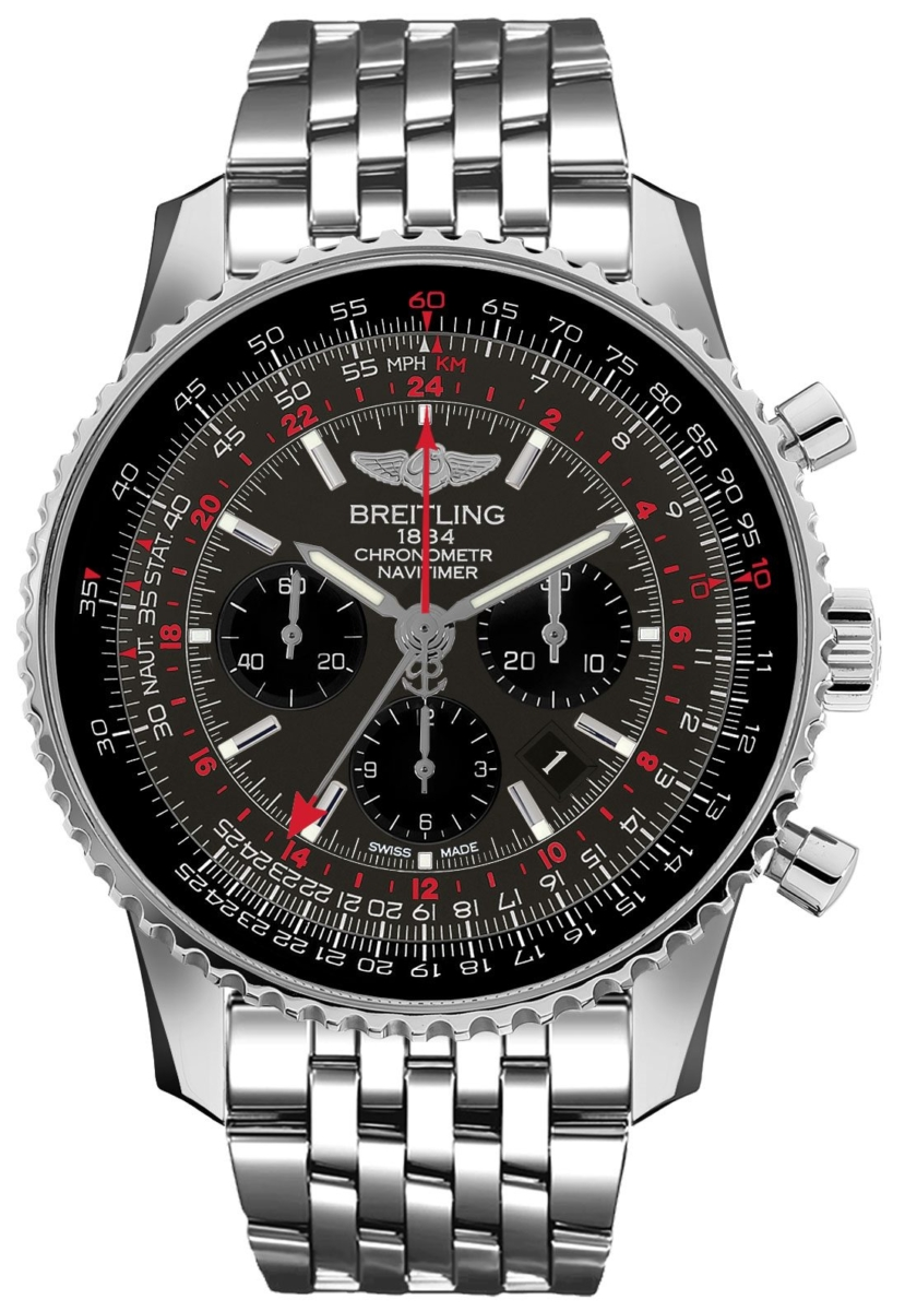 Breitling Navitimer GMT AB04413A/F573-453A Grey USA - GOOFASH - Mens JEWELRY