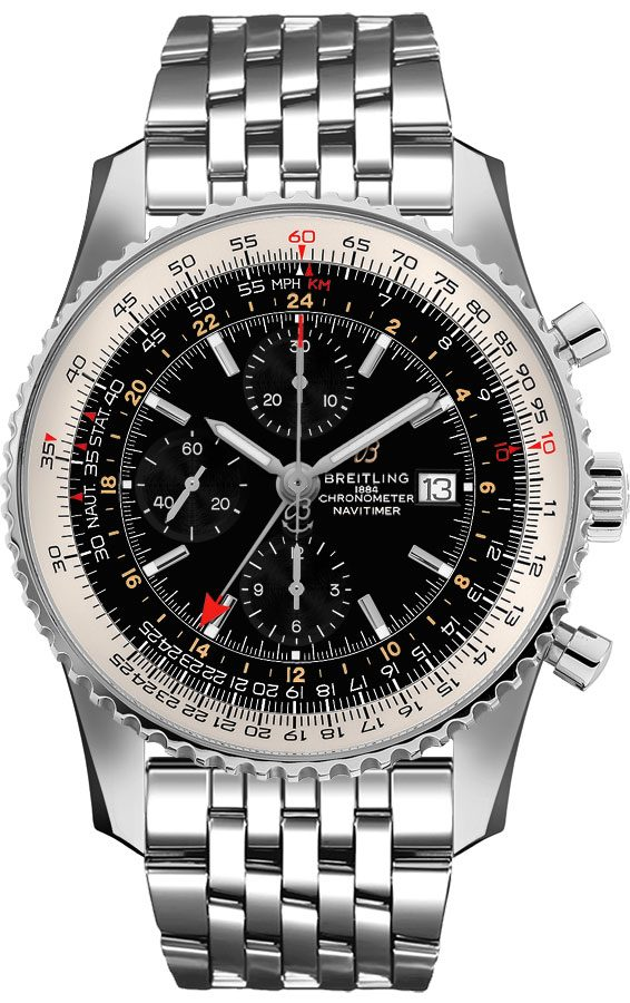 Breitling Navitimer GMT Black Dial Men's Watch A24322121B2A1 Black USA - GOOFASH - Mens WATCHES
