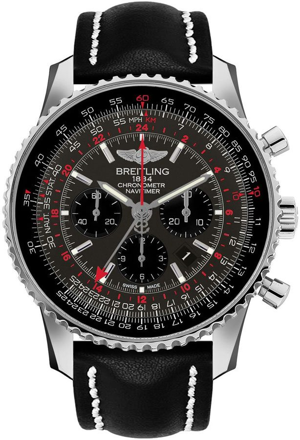 Breitling Navitimer GMT Limited Edition Men's Watch AB04413A/F573-442X Grey USA - GOOFASH - Mens WATCHES