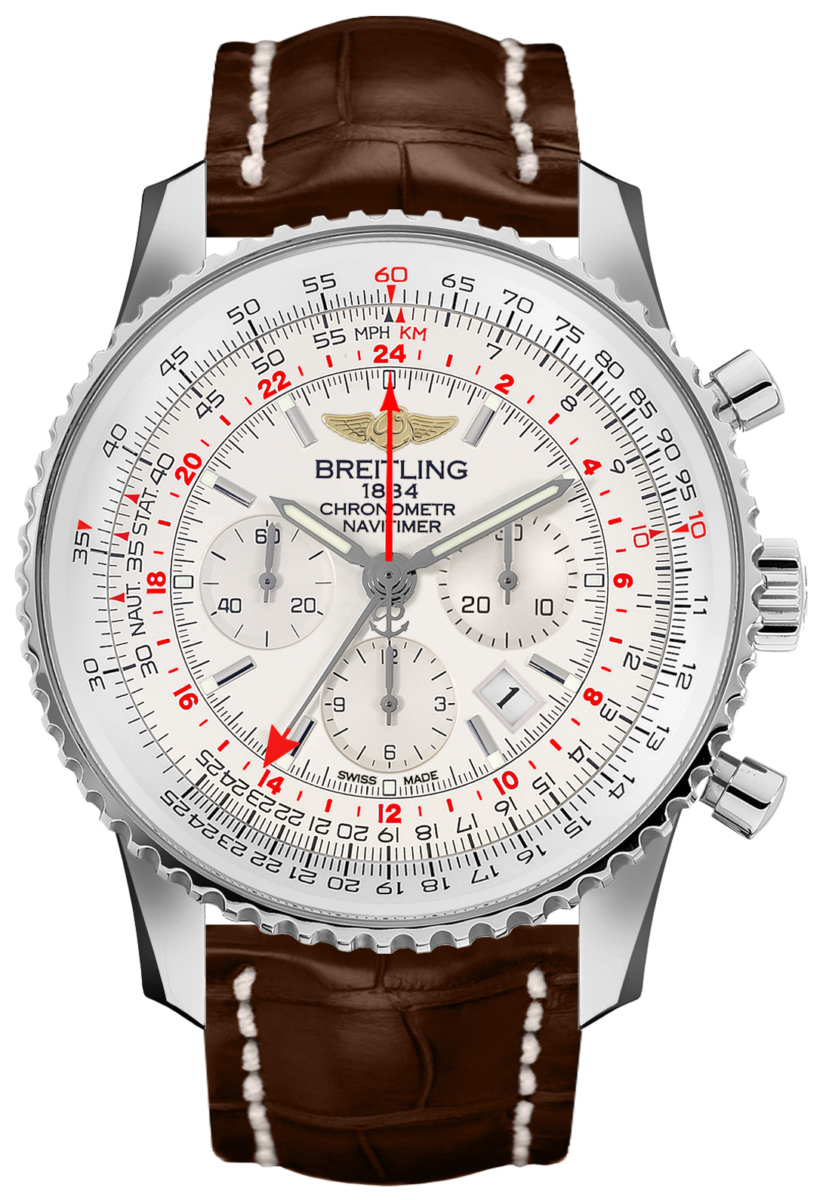 Breitling Navitimer GMT Men's Watch Sale AB0441211G1P1 Silver USA - GOOFASH - Mens WATCHES