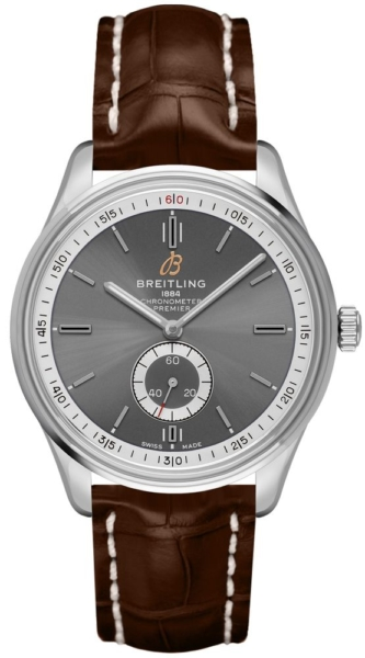 Breitling Premier Automatic 40 Tang A37340351B1P2 Grey USA - GOOFASH - Mens JEWELRY