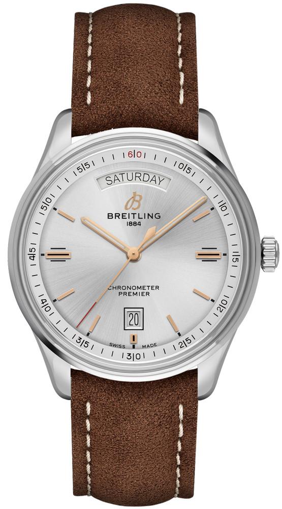 Breitling Premier Automatic Day & Date 40 A45340211G1X3 Silver USA - GOOFASH - Mens JEWELRY