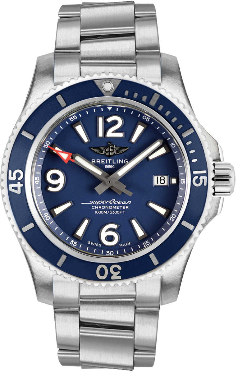 Breitling Superocean 44 Men's Watch A17367D81C1A1 Blue USA - GOOFASH - Mens WATCHES