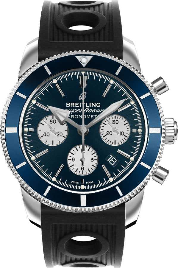 Breitling Superocean Heritage Automatic Men's Watch AB016216/CA07-200S Blue USA - GOOFASH - Mens WATCHES