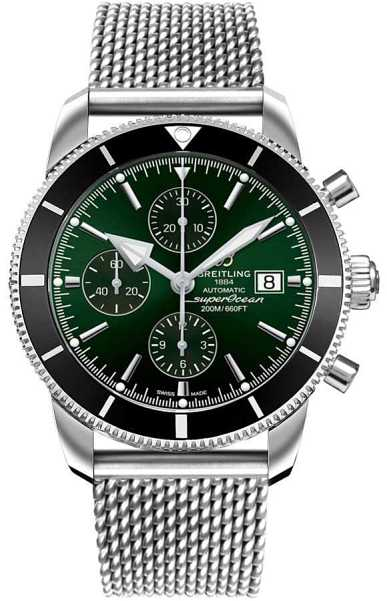 Breitling Superocean Heritage II 46mm Men's Watch A133121A/L536-152A Green USA - GOOFASH - Mens WATCHES
