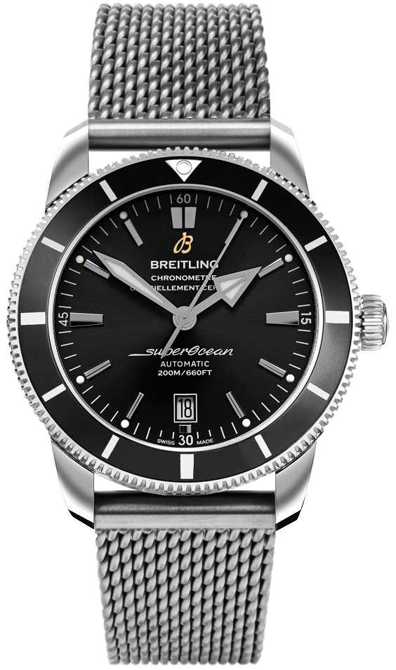 Breitling Superocean Heritage II B20 Automatic 42 Men's Watch AB2010121B1A1 Black USA - GOOFASH - Mens WATCHES