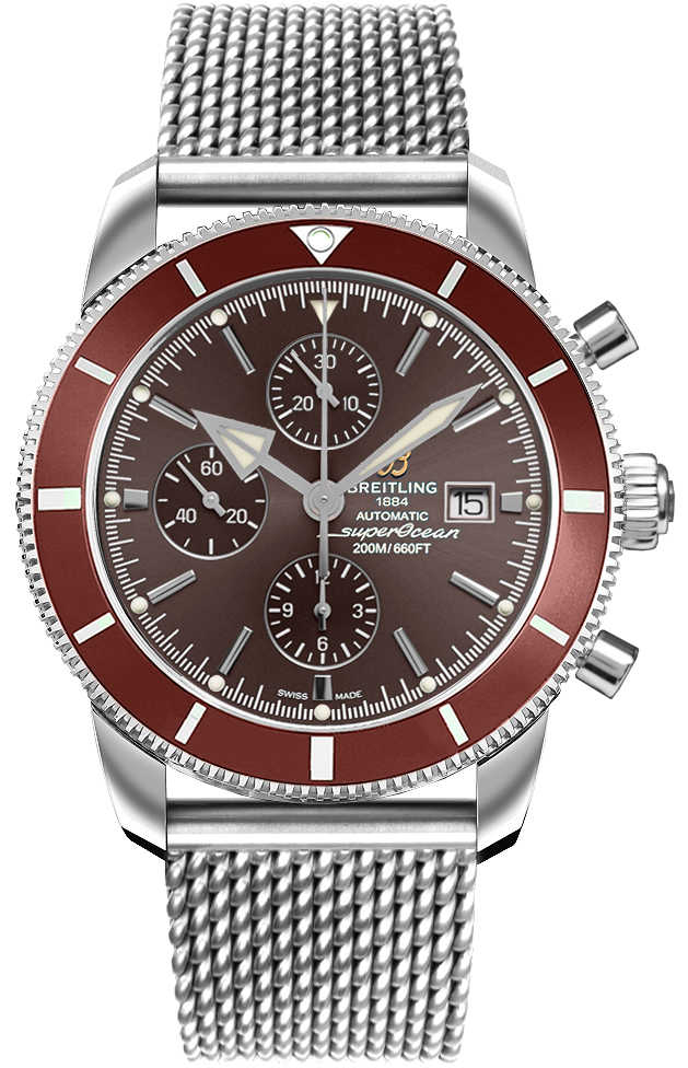 Breitling Superocean Heritage II Chronograph 46 A13312331Q1A1 Bronze USA - GOOFASH - Mens JEWELRY