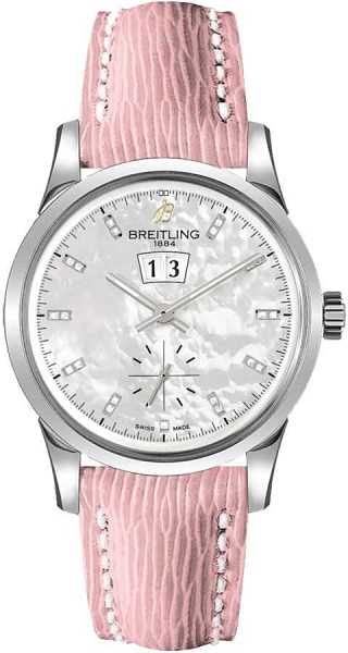 Breitling Transocean 38 Women's Watch A1631012/A765-240X White Mother Of Pearl USA - GOOFASH - Womens WATCHES