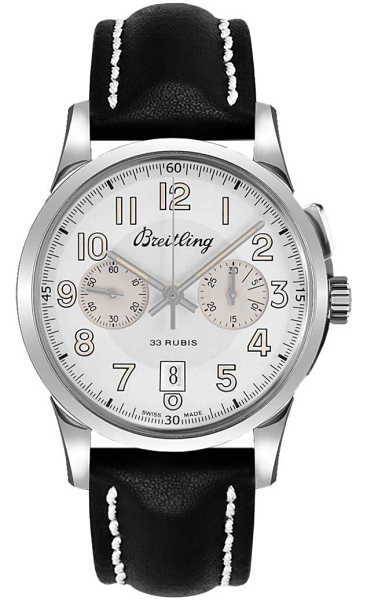 Breitling Transocean Chronograph 1915 Limited Edition Men's Luxury Watch AB141112/G799-435X Silver USA - GOOFASH - Mens WATCHES