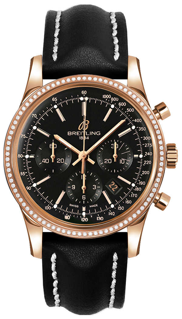 Breitling Transocean Chronograph Men's Luxury Watch RB015253/BB16-435X Black USA - GOOFASH - Mens WATCHES