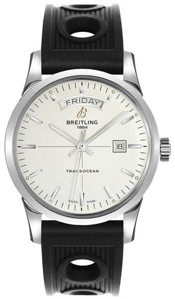 Breitling Transocean Day Date A4531012/G751-200S Silver USA - GOOFASH - Mens JEWELRY