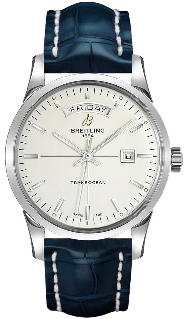 Breitling Transocean Day Date A4531012/G751-731P Silver USA - GOOFASH - Mens JEWELRY